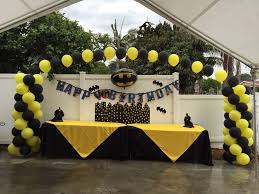 Columns For Party Decorations Batman Party Decorations Balloon Arches And Columns Any Color Or