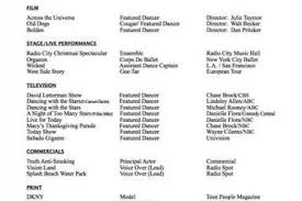 Performance Resume Template Awesome Dance Resume Samples Gallery Simple Resume Office Musical