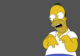 Homer Simpson Meme - homer simpson retarded reaction postcard blank template imgflip