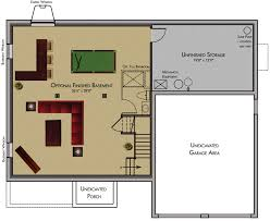 Floor Plans With Basement by Finished Basement Floor Plans Latest Allpurpose Rec Room With