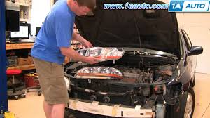 2002 honda accord change how to install repair replace broken headlight or bulb honda