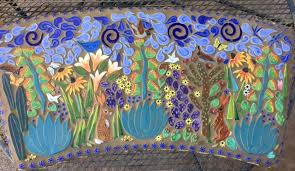 kitchen wall tile ideas bloomingcactus robin chlad designs creations sculpted from high fired clay