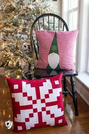 norwegian inspired patchwork snowflake pillow the polka dot chair