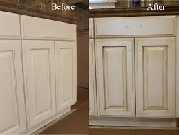 Before And After White Kitchen Cabinets Before And After Glazing Antiquing Cabinets A Complete How To