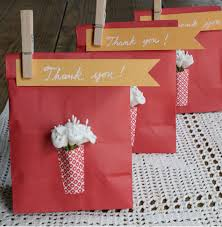 favor bag diy projects paper vase favor bags