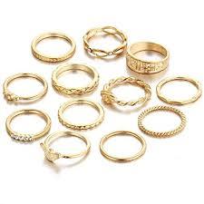 finger rings girls images Shining diva fashion set of 12 midi finger rings for girls women jpg