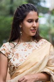 lady neck hair designer boat neck blouse designs for sarees