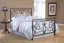 design ergonomic wrought iron scroll headboard full size of bedi