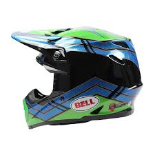 motocross helmet visor bell new 2017 mx moto 9 airtrix stance blue green dirt bike