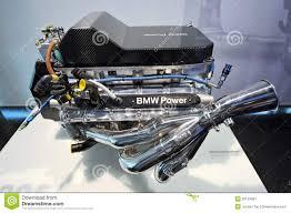 formula bmw bmw v10 formula one engine on display in bmw museum editorial