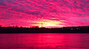 Color Pink by Beautiful Sunset Sundown With A Very Rare Pink Color This Rare