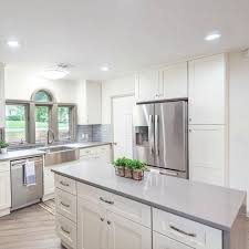 white kitchen cabinets with gray quartz counters quartz upstate granite solutions in greenville sc