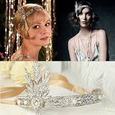 great gatsby hair accessories the great gatsby vintage hair accessories pearl rhinestone bridal