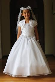 communion dress white satin and organza communion dress mdr1430 wh
