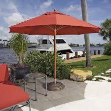 Teak Patio Umbrella by Fiberbuilt Augusta 11 Ft Fiber Teak Contract Patio Umbrella