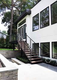 exterior metal stairs residential home style tips classy simple on