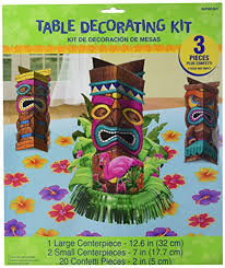 luau table centerpieces amscan sun sational luau party tropical tiki table decorating kit