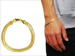 gold man bracelet images Solt and pepper rakuten global market no brand gold plate jpg
