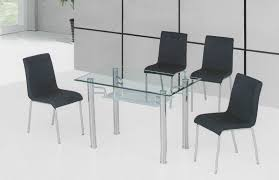 Modern Glass Dining Table Designs Furniture Amazing Glass Dining Table With Polk Dining Chair