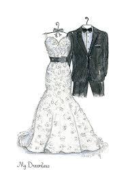15 year anniversary gift 15 year anniversary gift dreamlines wedding dress sketch