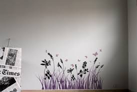 wall sticker with grass flowers and dragonflies idfdesign colorful grass black pink purple wall sticker with grass flowers and dragonflies