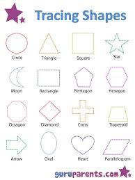 tracing basic shapes shapes worksheets preschool shapes and