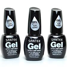 top earing santee 3 gel effect nail top coat 14 days
