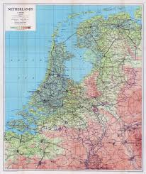 Map Netherlands Large Scale Old Physical Map Of Netherlands With All Roads And