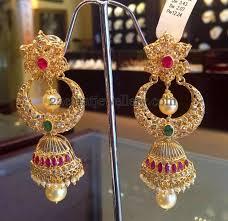 kerala style jhumka earrings 136 best jhumkas images on indian jewellery design