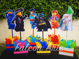Centerpieces For Birthday by Lego Movie Character Wood Table Centerpieces For Birthday