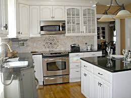 Black Countertop Kitchen Kitchen Kitchen Backsplash White Cabinets Black Countertop