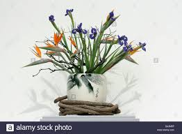 Traditional Flower Arrangement - traditional chinese flower arrangement stock photo royalty free
