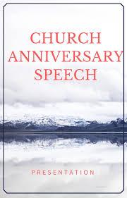 church anniversary speeches