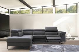 Grey Leather Sectional Sofa Divani Casa Booth Modern Light Grey Leather Sectional Sofa W