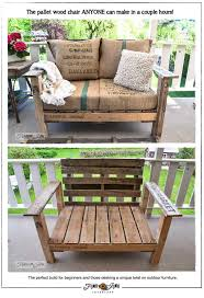 Diy Wooden Garden Furniture by 20 Diy Pallet Patio Furniture Tutorials For A Chic And Practical