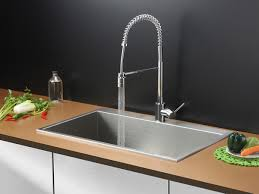 kitchen sink with faucet set ruvati rvc2391 stainless steel kitchen sink and chrome faucet set