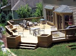 Backyard Deck Design Ideas Exterior Backyard Deck Design And Landscaping Using