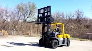 15 500 lb tcm fd70z8 dual pneumatic forklift st louis youtube