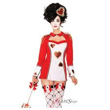 queen of hearts guard costume set for women