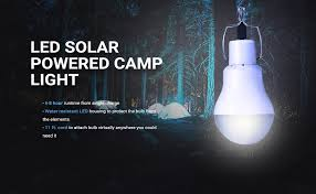 solar powered outdoor light bulbs portable solar panel power led bulb l outdoor c tent fishing