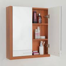 dark brown small corner bathroom storage cabinet attached in grey