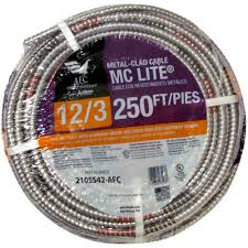 afc cable systems 12 3 x 250 ft solid mc lite cable 2105s42 afc