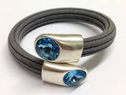 swarovski crystal leather bracelet images Regaliz swarovski crystal end caps end caps for licorice leather jpg