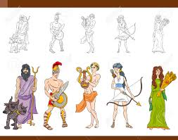 greek gods cartoon stock photos u0026 pictures royalty free greek