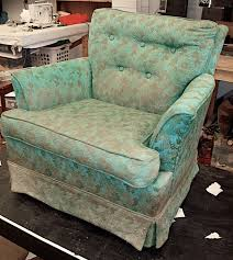turquoise chair slipcover upholstery pins paint