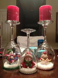 wine glass snow globes copas pinteres