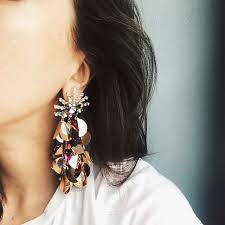 statement earrings 2018 statement earring fringed earrings brincos rhinestone