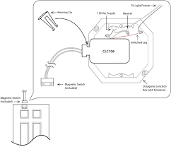 closet door switch wiring diagram