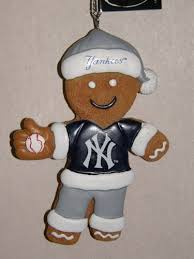 york yankees gingerbread man christmas ornament