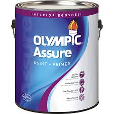 shop olympic assure base 5 eggshell latex interior paint and
